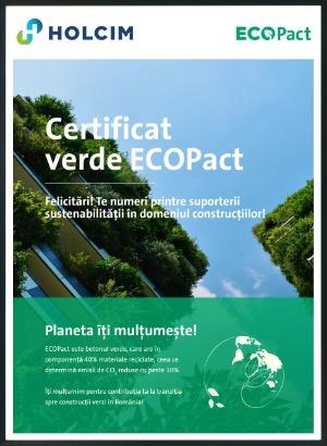 certificat verde ecopact
